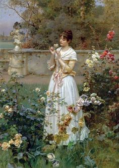 """The Rose of All Roses"" (1889) by Wilhelm Menzler. #roses, #gardens, #art ""The Rose of All Roses"" (1889) by Wilhelm Menzler (1846-1926)."