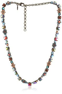 """Sorrelli """"Tropical"""" Crystal and Opaque Floral Gold-Tone Necklace Sorrelli, http://www.amazon.com/dp/B004WPPGM6/ref=cm_sw_r_pi_dp_OBTGqb0HJPEE8"""