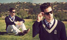 Doctrine Denim Jeans, Gant Sweater, H Shirt, Ralph Lauren Tie, Bostonian Shoes, Ray Ban Sunglasses