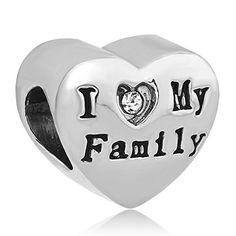 "Charm ""I love my Family"", herzförmig, auf Rückseite: Mama, Papa, Kind, passend für Pandora Armband - http://schmuckhaus.online/lovelyjewellery/i-love-my-familie-herz-charms-mom-vater-kind-charm"