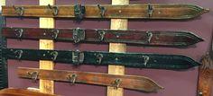 Ski Coat Hooks - Vintage Wall Hanging Ski Coat Rack