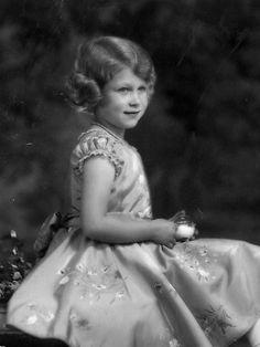 Princess Elizabeth, aged seven, in 1933.