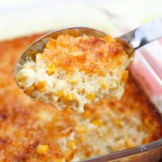 A classic #Thanksgiving dish! Try this #creamedcorn #casserole