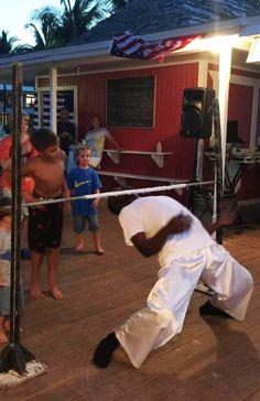 It's Limbo time at Teaser's Tiki Bar (Old Bahama Bay, Grand Bahama Island)