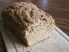 Mmm... beer! A quick and dirty recipe for a hearty bread! I highly recommend using a dark oatmeal stout.
