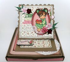Easel card on kraft. Created by Nienna. Invitation, Easel Cards, Big Shot, Wedding Cards, Drawer, Stamps, Decorative Boxes, Lunch Box, Creations