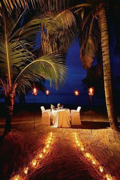 Couples Swept Away, Negril, Jamaica-We did this our wedding night! So romantic and perfect! this is how Roger proposed to Laurie :) Romantic Beach, Romantic Night, Romantic Dates, Romantic Dinners, Most Romantic, Romantic Room, Romantic Moments, Romantic Getaways, Couples Resorts