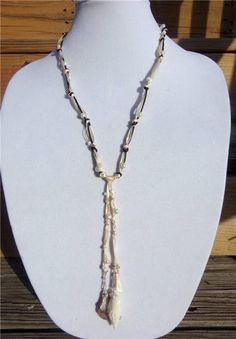 Freshwater Pearl and Leather Necklace Pearl Cluster and Hand Painted Shell 520 ~