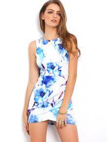 floral print dresses, wrap dresses, floral bodycon sexy dresses, summer flower dresses - Lyfie