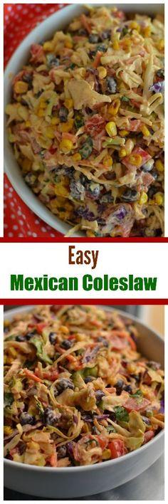 Easy Mexican Coleslaw | Mexican Coleslaw | Tex Mex Coleslaw | Coleslaw