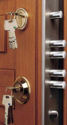 Pretty sure you don't have to worry about someone breaking in through the front door with this locking system.