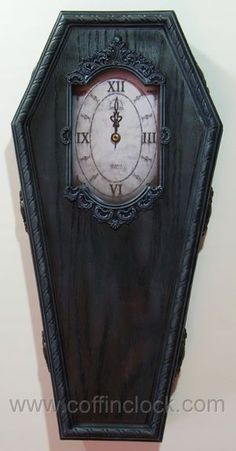 ゝ。Black Victorian Coffin Clock by Winter's Asylum.。Shop Ebay: Gamera13 → http://www.ebay.com/itm/Black-Victorian-Coffin-Clock-by-Winter-039-s-Asylum-/291150325819?pt=US_Clocks&hash=item43c9e9683b&nma=true&si=R1d8FjqIowuvHNj85532tQJ%252BamY%253D&orig_cvip=true&rt=nc&_trksid=p2047675.l2557