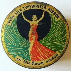 Old Town Pure Silk Typewriter Ribbon tin