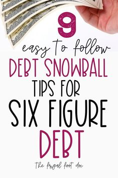 Easy to debt snowball tips for six figure debt. How to use Dave Ramsey s Debt Snowball for large debt. Does the Dave Ramsey debt snowball work for paying off large debt fast