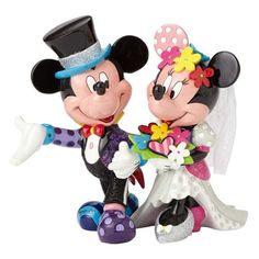(affiliate link)  Disney Mickey Mouse and Minnie Mouse Wedding Statue by Romero Britto