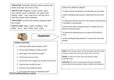 Trinity Grade5 vocab summary and conversation questions