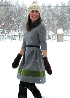 Going To Make 4 Dresses Like This – One For Spring, One For Summer, One For Fall, And One For Winter. Free Women's Dress Pattern - Click for More...