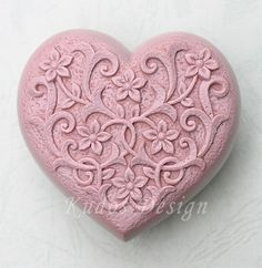 HR010 Love dearly Soap Mold soap mold silicone soap by Kudosoap