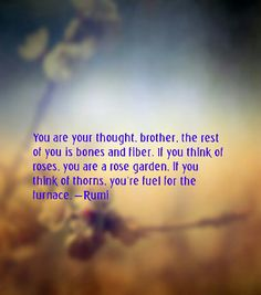 You are your thoughts