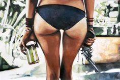 "Saatchi Art Artist thomas saliot; Painting, ""Hold on, i'm comin'  "" #art"