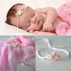 Newborn Headband Cheesecloth Wrap Set. Baby by verityisabelle, £19.99