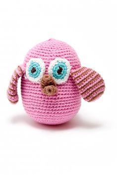 Fair Trade Crochet Owl Rattle £7.99