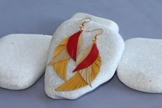 Feather Earrings. Leather Feather Jewelry. Leather and от ZvuvA