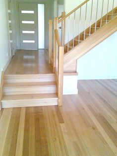 Southern Blue Gum hardwood flooring with Ash treads and risers for the Staircase by Timber Floors Pty Ltd Ph 02 9756 4242