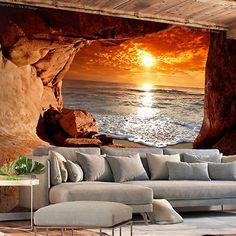 fototapete ausblick meer landschaft vlies tapete wandbilder xxl c c 0180 a a - Fantastisch Attraktive Dekoration Fototapete Nach Mas