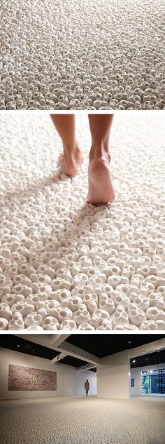 What will you leave behind? 100000 Miniature Porcelain Skulls by artist Nino Sarabutra.