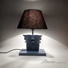 Lampada vintage con intarsio antico. N. 002 di PavonMadeByNature