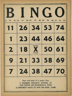 Vintage Bingo by takeabreak, via Flickr
