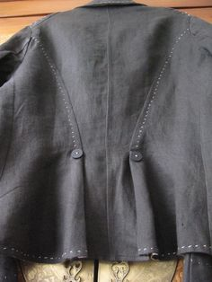 Resize jacket smaller using hand stitching. no tutorial