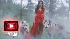 Megan Nicole - Escape [Official Music Video - YTMAs] - At 2:29 Girl in red dress standing between two wolves. Raised by wolves story inspiration #YA