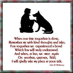 Dedicated to everyone who has a beloved furry friend waiting for you on the other side of the Rainbow Bridge! I Love Dogs, Puppy Love, Puppy Pics, Dog Passed Away, Pet Loss Grief, Amor Animal, Animal Poems, Dog Poems, Dog Heaven