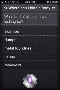"""With iOS 7, if you ask Siri the same question she responds with """"I used to know the answer to this...""""  Lame, Siri!"""