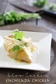 slow cooker enchilada chicken #slowcooker