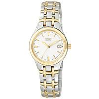 Buy Citizen EW1264-50A Women's Eco-Drive Two Tone Bracelet Strap Watch, Gold/Silver £149 from Women's Watches range at #LaBijouxBoutique.co.uk Marketplace. Fast & Secure Delivery from John Lewis online store.