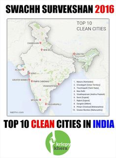 Top 10 Clean Cities in India.  Make your City clean. Visit My website for more information - http://kricpykhera.com/  #kricpy #kricpykhera #kricpykheragill #khera #quotes