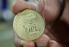 The match coin during the eliminator match of the 2013 Pepsi Indian Premier League between The Rajasthan Royals and the Sunrisers Hyderabad held at the Feroz Shah Kotla Stadium, Delhi on the 22nd May 2013
