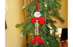 Christmas decorations made from Lifesavers, popular in the 70's