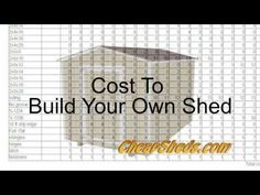 CheapSheds.com | How To Build A Shed + Videos + $7.95 Shed Plans