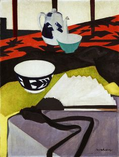 Still Life (The Grey Fan) by  Francis Campbell Boileau Cadell