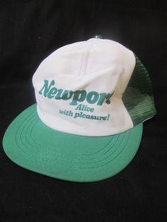Vintage Newport Alive With Pleasure Mesh Trucker Hat Foam Front Snapback Cap   Clothing, Shoes & Accessories, Men's Accessories, Hats   eBay!