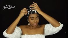 Elegant Head Wrap Tutorial - Station Of Colored Hairs Hair Wrap Scarf, Hair Scarf Styles, Curly Hair Styles, Natural Hair Styles, African Hair Wrap, African Head Wraps, Scarf Hairstyles, African Hairstyles, Moda Afro