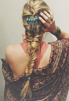 Bohemian summer braids.