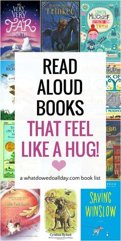 Find the perfect family read aloud book to share for heartwarming snuggle time with the kids. Best children's books for cozy read aloud time! Read Aloud Books, Good Books, My Books, Kids Reading, Teaching Reading, Reading Lists, Student Teaching, Best Children Books, Childrens Books
