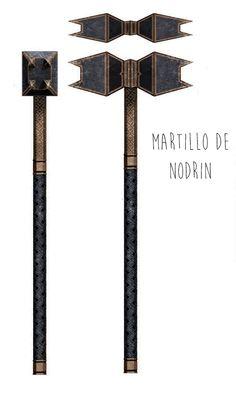 Nodrin's dwarven warhammer