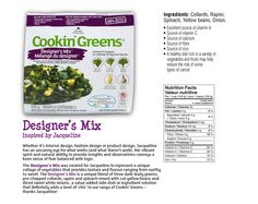 If I'm not eating fresh kale from my garden [it grows like a weed, so easy - give it a try!], I keep a variety of these mixes by Cookin' Greens on hand for easy to include plant power nutrition Sources Of Calcium, Sources Of Vitamin A, Sources Of Fiber, Kale, Spinach, Sweet Red Pepper, Valeur Nutritive, White Beans, Grocery Store