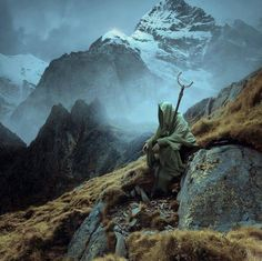 Druids are never really alone... The spirits of nature are always with…
